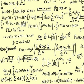 Math Notes on Yellow // Large