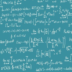 Math Notes on Teal // Large