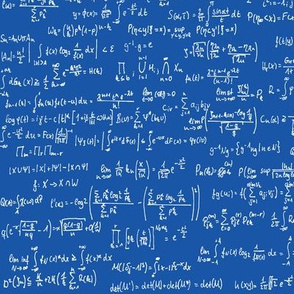 Math Notes on Royal Blue // Small