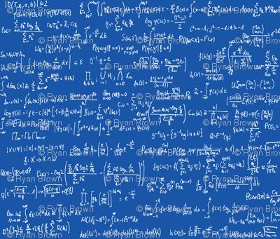 Math Notes on Royal Blue // Large