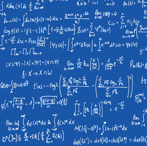 Math Notes on Royal Blue // Large fabric by thinlinetextiles on Spoonflower - custom fabric