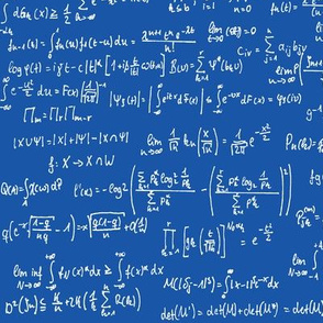 Math Notes on Royal Blue // Large