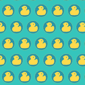Floating Yellow Ducks