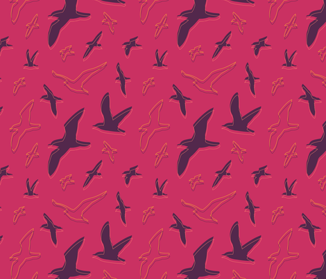 Shearwater—Sunset fabric by oh_maybe on Spoonflower - custom fabric