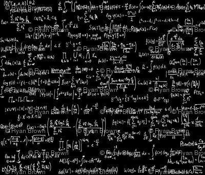 Math Notes on Black // Large