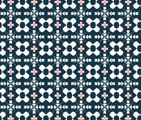 Native Prairie : Tile // B&W fabric by beshkakueser on Spoonflower - custom fabric