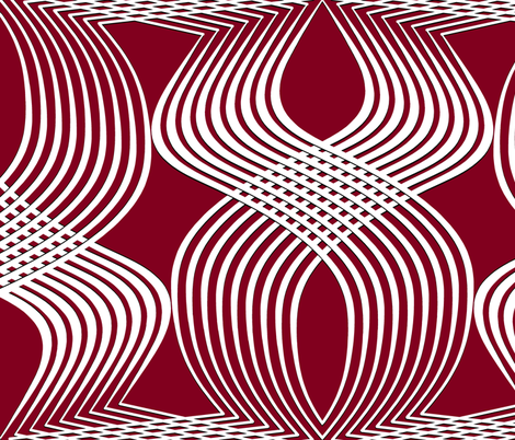 aRT dECO wHITE oN bURGUNDY 81001E fabric by house_of_heasman on Spoonflower - custom fabric
