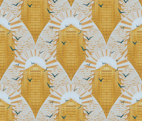 Golden Morning fabric by maritcooper on Spoonflower - custom fabric