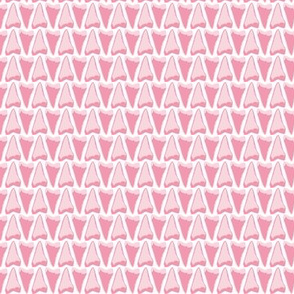 Shark tooth pink and whit