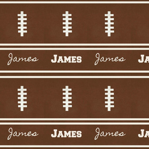 football vintage BR105 -  strings & 2 stripes PERSONALIZED James