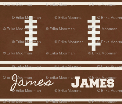 football vintage BR7 -  strings & 2 stripes PERSONALIZED James