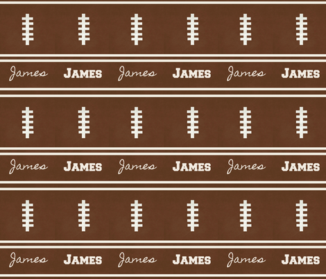 football vintage BR7 -  strings & 2 stripes PERSONALIZED James fabric by drapestudio on Spoonflower - custom fabric