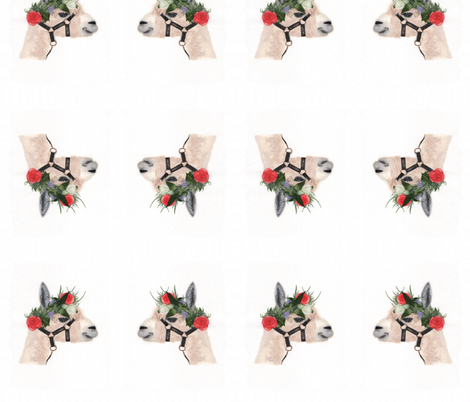 Boho Alpaca-watercolor fabric by happy_soul on Spoonflower - custom fabric