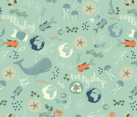 Earth Print fabric by mintedtulip on Spoonflower - custom fabric