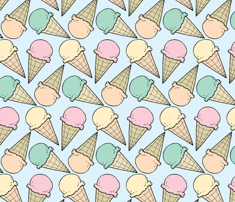 Summer sherbet fabric by charladraws on Spoonflower - custom fabric