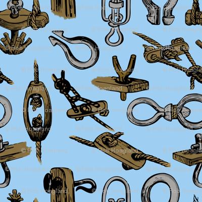 knotical sailor knots on blue
