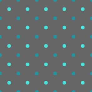Polka dots grey tal