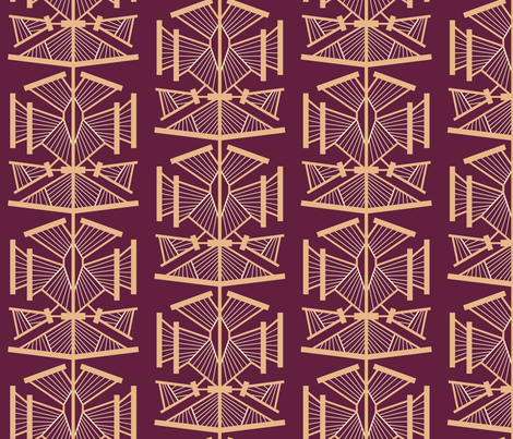 Deco Modern (Glamour) LARGE fabric by brendazapotosky on Spoonflower - custom fabric
