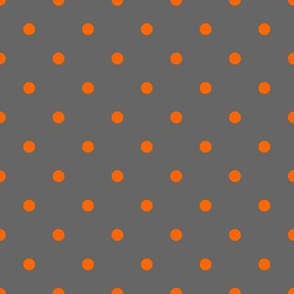 Polka dots orange and grey