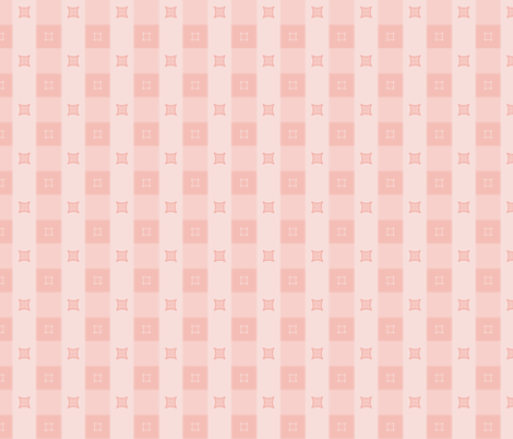 Dogwood Check: Rose Gold fabric by dept_6 on Spoonflower - custom fabric