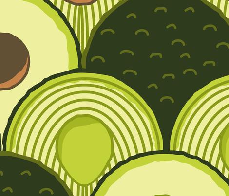 avodeco (avocados in art deco) jumbo fabric by b0rwear on Spoonflower - custom fabric