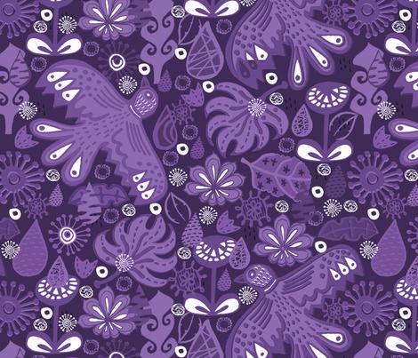 Midnight Rain Garden fabric by slumbermonkey on Spoonflower - custom fabric