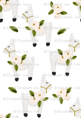 floral llamas