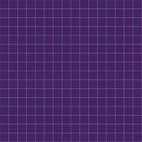 Purple and Teal Line Grid
