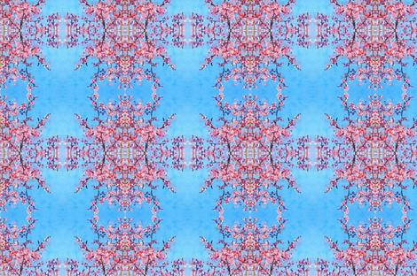 Mirrored Cherry Tree- Tips Trimmed fabric by fleur_de_la_mer_designs on Spoonflower - custom fabric