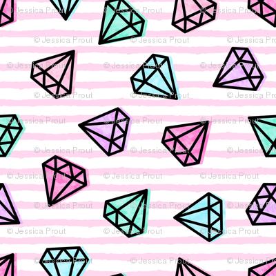 "(3/4"") multi diamonds on stripes"