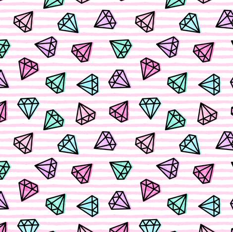"(3/4"") multi diamonds on stripes fabric by littlearrowdesign on Spoonflower - custom fabric"