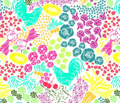Summer Fresh fabric by fat_bird_designs on Spoonflower - custom fabric