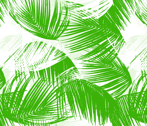 palm leaves - green fabric by fable_design on Spoonflower - custom fabric