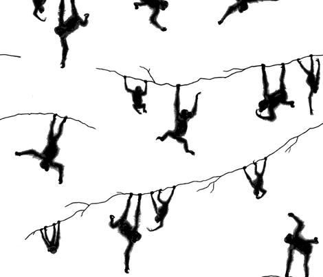 Orangutans having fun fabric by jani_na on Spoonflower - custom fabric