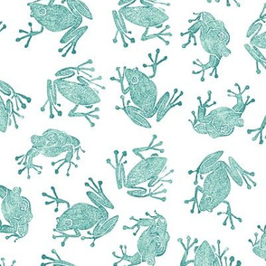 teal frogs