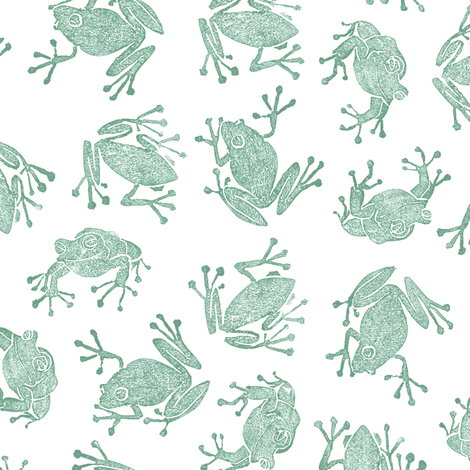 spring peepers fabric by weavingmajor on Spoonflower - custom fabric