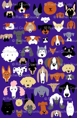 Dog Cartoon Print