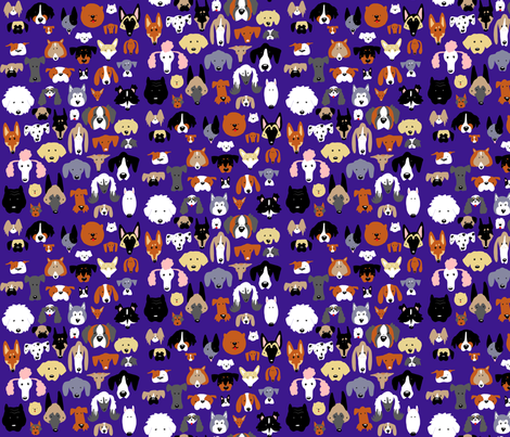 Dog Cartoon Print fabric by apolloofthestars on Spoonflower - custom fabric