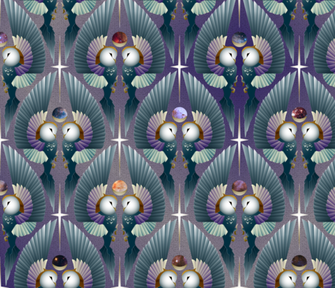 Night Owls fabric by chris_parker_studio on Spoonflower - custom fabric