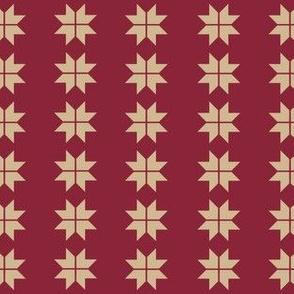 Red Tan Christmas Swedish Stars