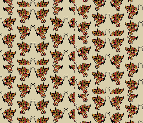 art_deco_butterfly fabric by m_design on Spoonflower - custom fabric