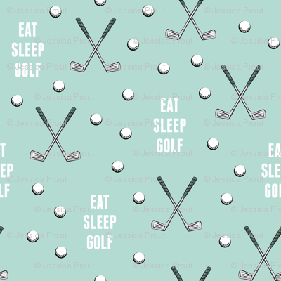 eat sleep golf - dark mint