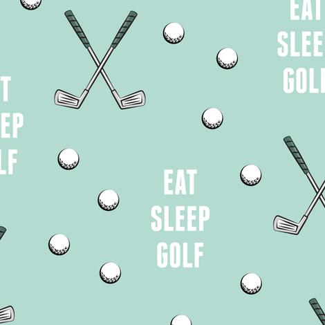 eat sleep golf - dark mint fabric by littlearrowdesign on Spoonflower - custom fabric