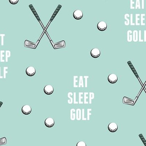 eat sleep golf - dark mint