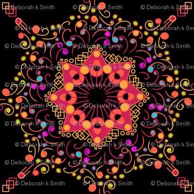 Colorful Mandalas on Black