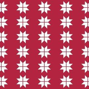 Red White Nordic Christmas Swedish Stars