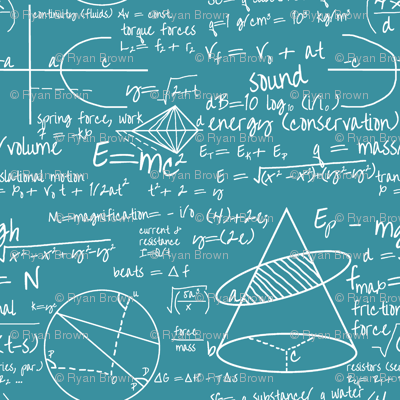 Common Equations - Teal // Small