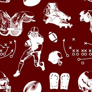 American Football // Burgundy // Large