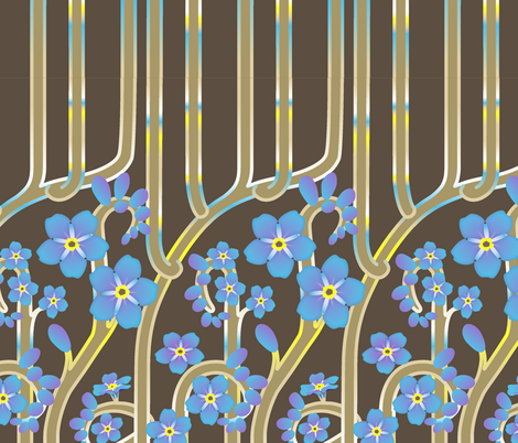 Forget Me Nots fabric by jinjer on Spoonflower - custom fabric