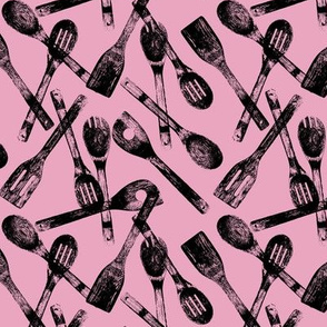Cooking Spoons on Pink // Small